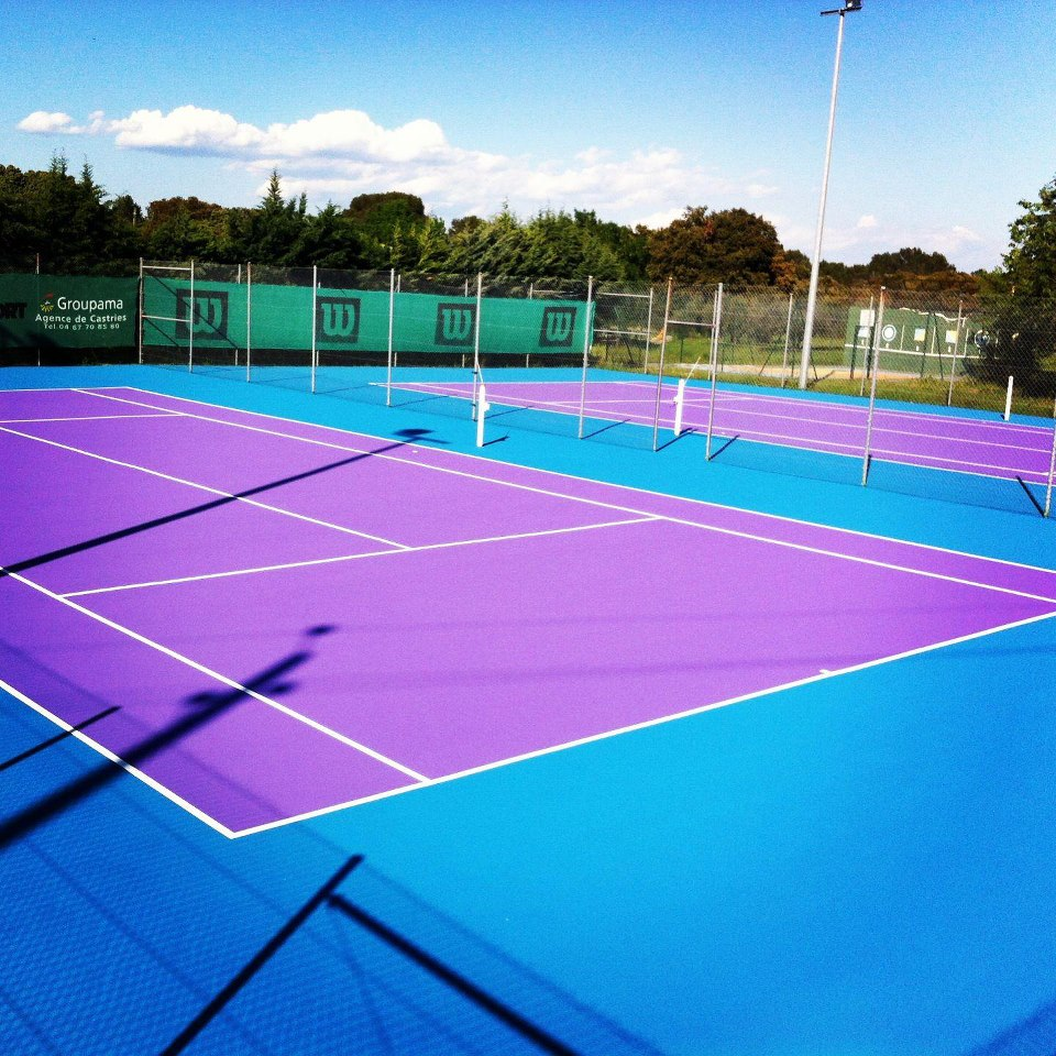 Le club for Surface terrain de tennis